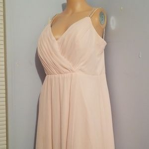 🎃LIGHT PINK BRIDESMAID DRESSE SIZE 14